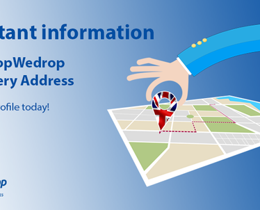 Important Information - New UK Warehouse Address